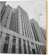criminal courts building and tombs south building manhattan detention complex New York City USA Wood Print