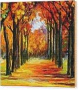 Crimson Alley Wood Print