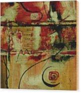 Crimson And Copper Wood Print