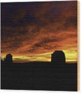 Crimson Wood Print by Darryl Gallegos