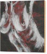 Crimson Red Wood Print