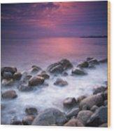 Crimson Sea Wood Print