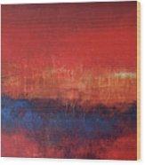Crimson Sky Wood Print