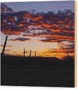 Crimson Sunrise  Wood Print