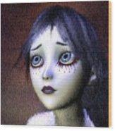 Crimson Tears Wood Print