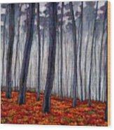 Crimson Walk Wood Print