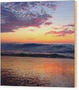 Crimson Wave Art 2 Wood Print