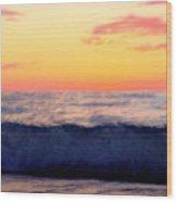 Crimson Wave Art Wood Print