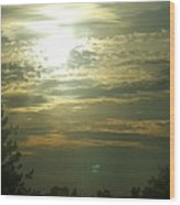 Crinkled Forehead Lines In The Sky Wood Print
