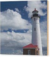 Crisp Point Lighthouse 7 Wood Print