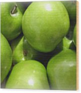 Crispy Green Apples From The Farmers Market Wood Print