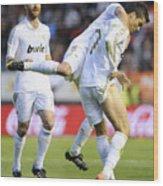 Cristiano Ronaldo 3 Wood Print