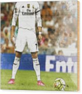 Cristiano Ronaldo Reacts Wood Print