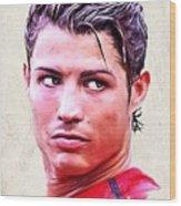 Cristiano Ronaldo Wood Print by Wu Wei