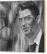 Cristiano Soccer Player 01 Wood Print