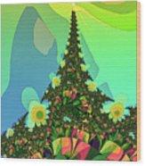 Cristmas Tree 2 Wood Print