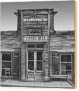 Criterion Hall Saloon -- Montana Territories Wood Print