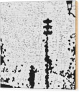 Critical Crossing -- Hand-pulled Linoleum Cut  Wood Print
