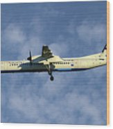 Croatia Airlines Bombardier Dash 8 Q400 Wood Print