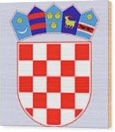 Croatia Coat Of Arms Wood Print