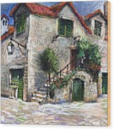 Croatia Dalmacia Square Wood Print
