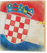 Croatia Flag Wood Print