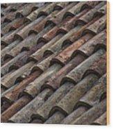 Croatian Roof Tiles Wood Print