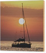 Croatian Sunset Wood Print