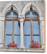 Croatian Windows Wood Print