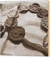 Crochet Chakras And Buddha Wood Print