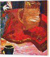 Crock And Coffee Wood Print