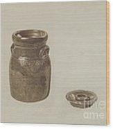 Crockery Churn Wood Print