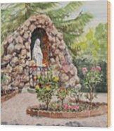 Crockett California Saint Rose Of Lima Church Grotto Wood Print