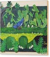 Crocodile Amble Wood Print