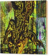 Crocodile At Nile Wood Print