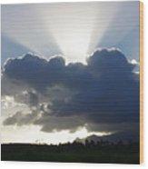 Crocodile Clouds Sunrays And Mt Bartle Frere Fnq  Wood Print