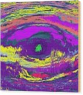 Crocodile Eye Wood Print