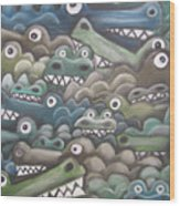 Crocodile Soup Wood Print
