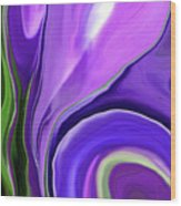 Crocus Abstract15 Wood Print by Linnea Tober