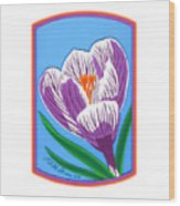 Crocus Too Wood Print
