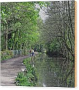 Cromford Canal - Tree Lined Walk Wood Print