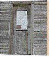 Crooked Door Wood Print
