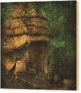 Crooked House Wood Print