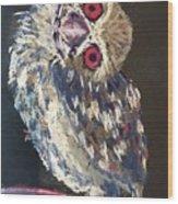 Crooked Owl Wood Print