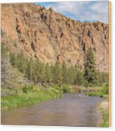 Crooked River II Wood Print