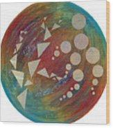 Crop Circles Abstract Wood Print