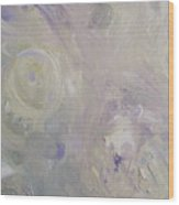 Crop Circles In Purple And Green Wood Print