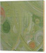 Crop Circles Yellow Analog 2 Wood Print
