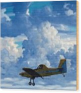 Crop Duster Wood Print