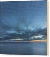 Crosby Beach High Tide Wood Print